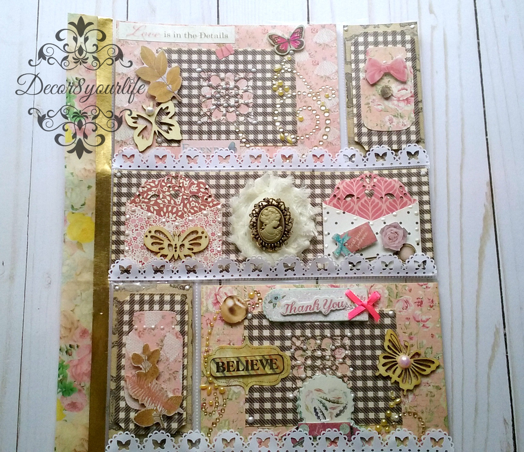 Shabby Chic Pocket Letter