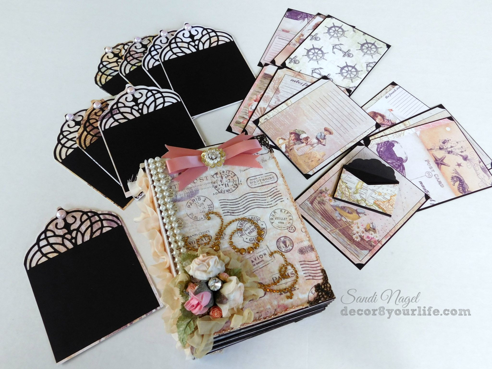 Shabby Chic Mini Album Ideas