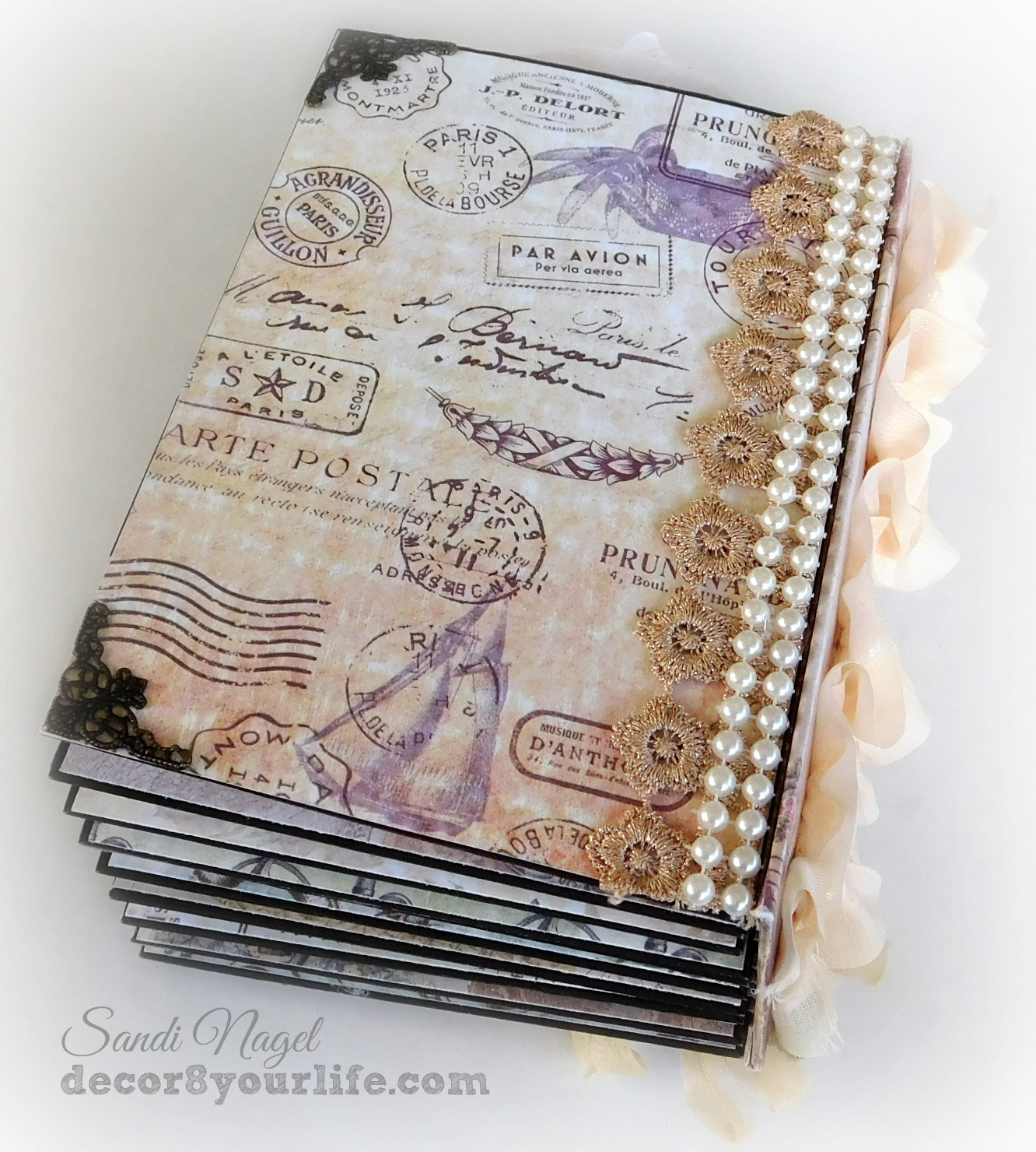 Shabby Chic Paper Bag Mini Album Ideas