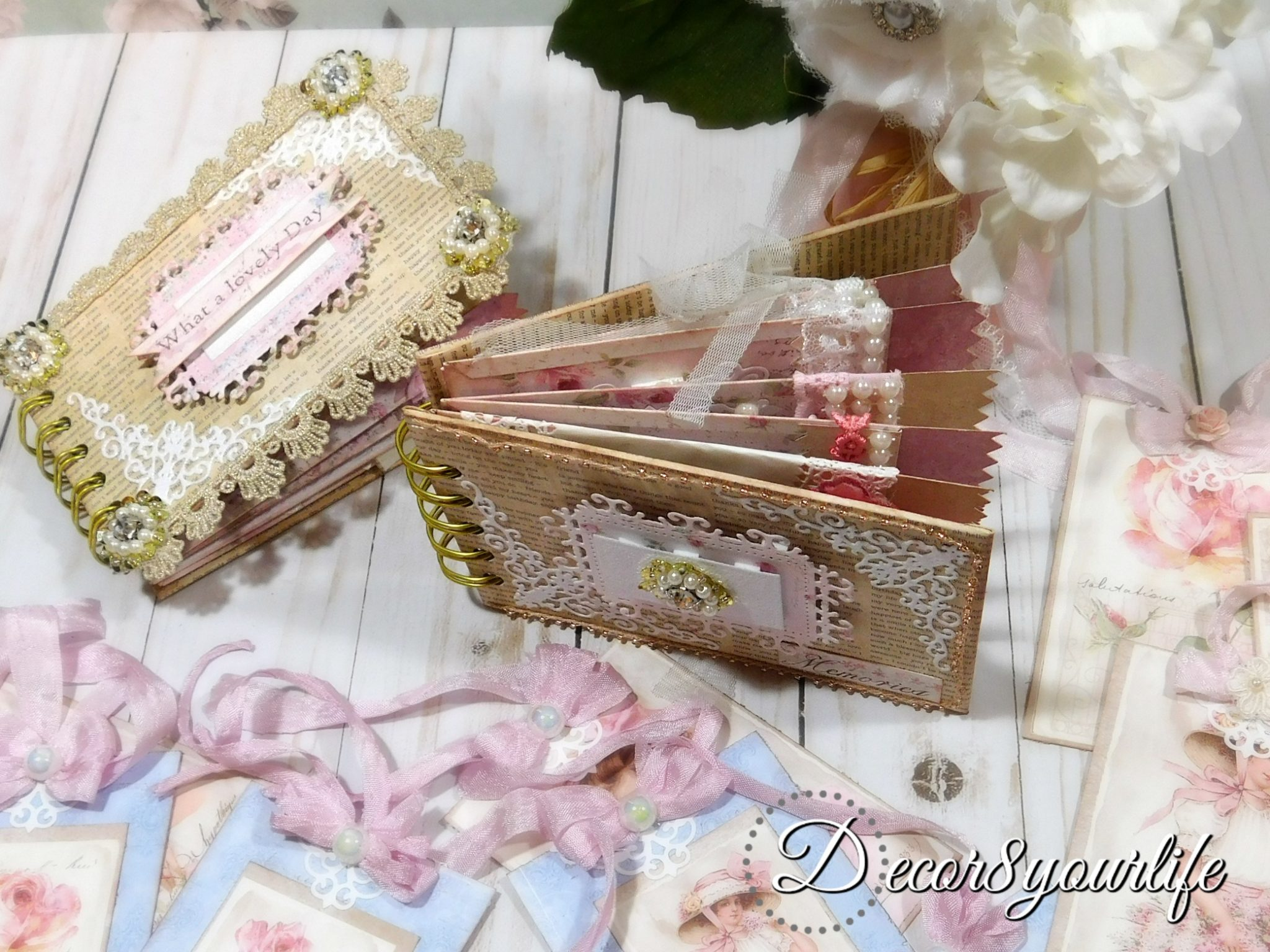 Shabby Chic Mini Album Tutorial