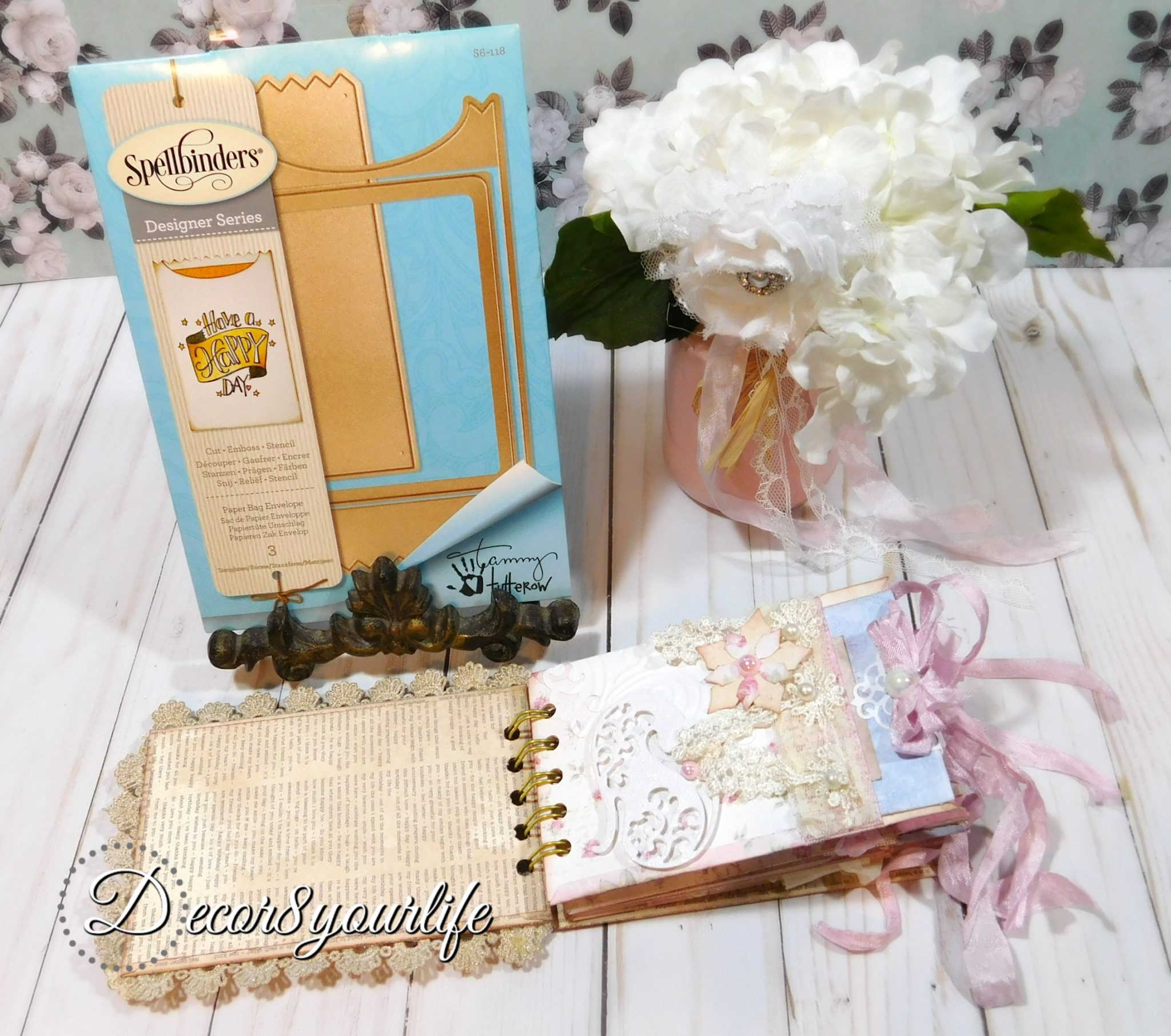 best shabby chic mini album ideas