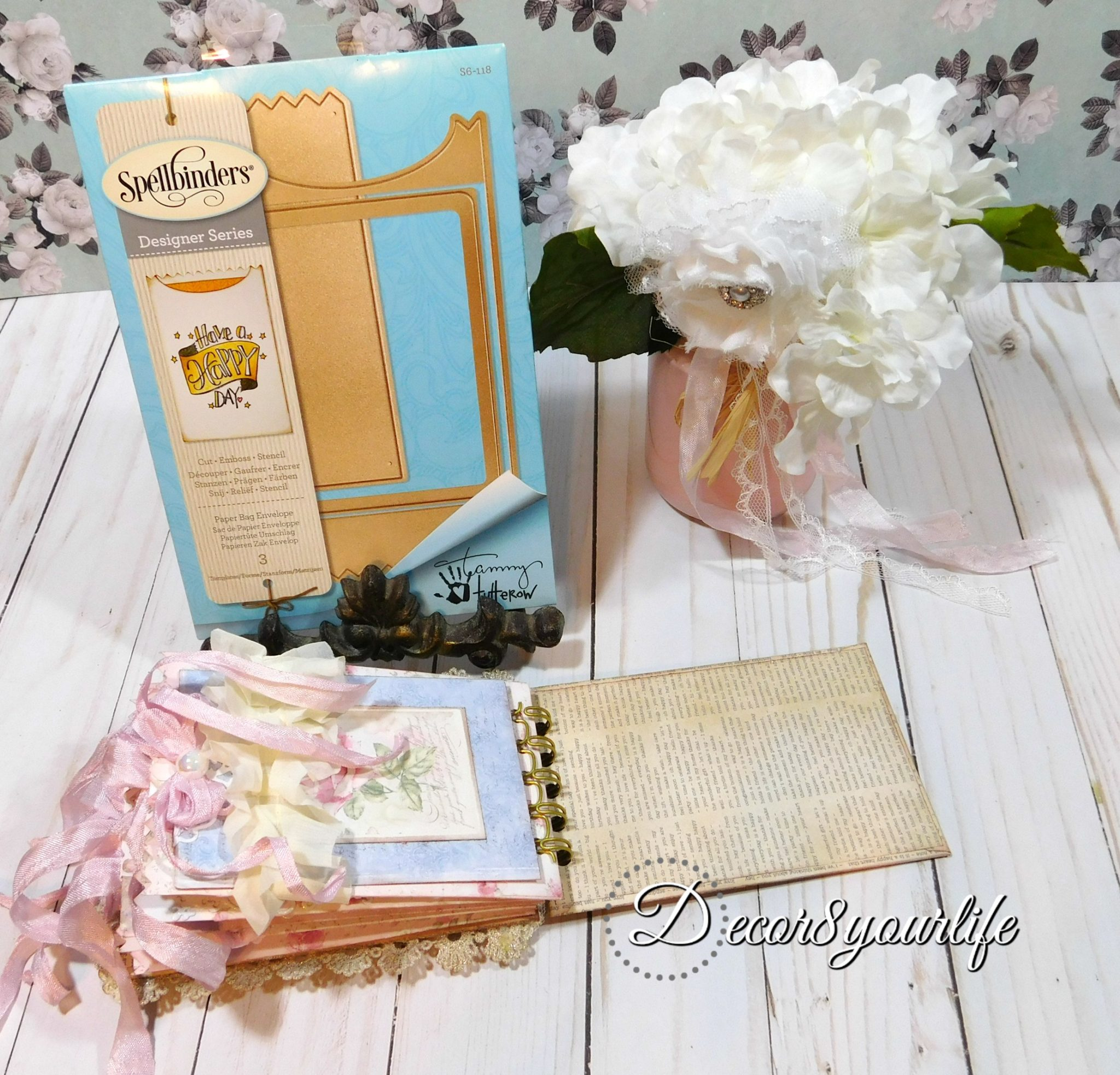 shabby chic lace mini album tutorial