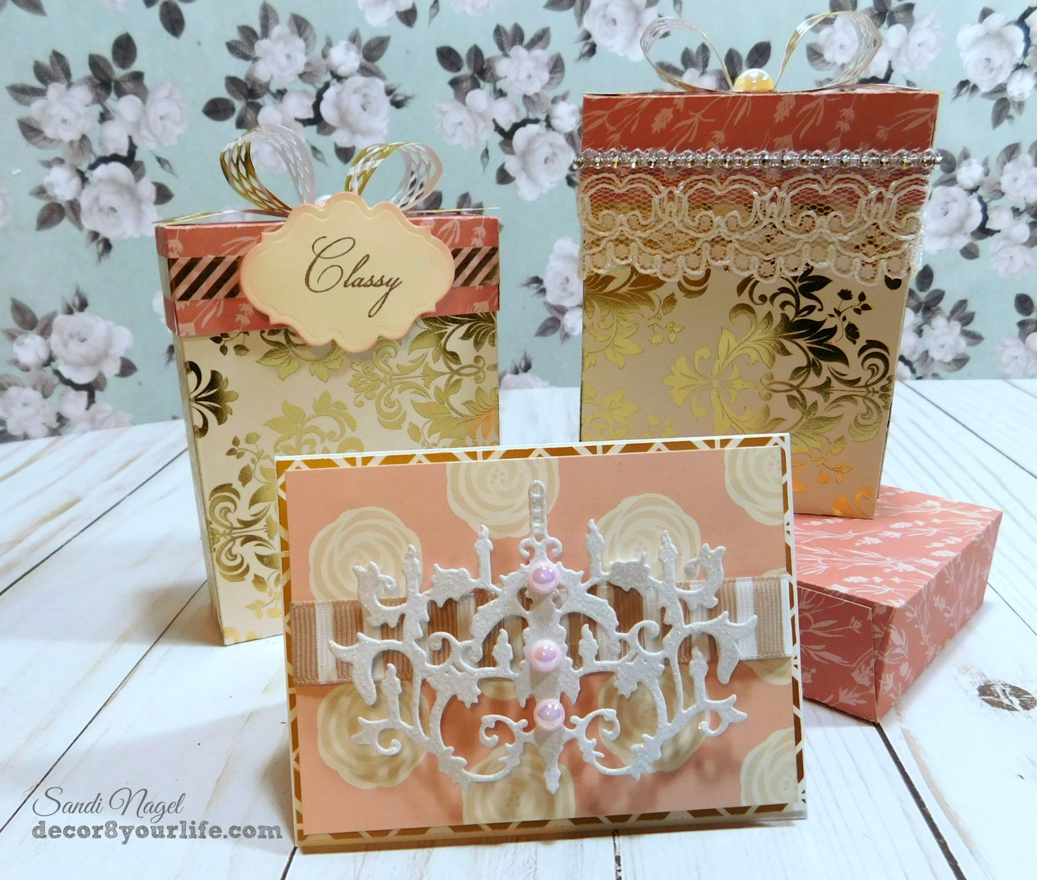 Chandelier Note Card Spellbinders Card Ideas