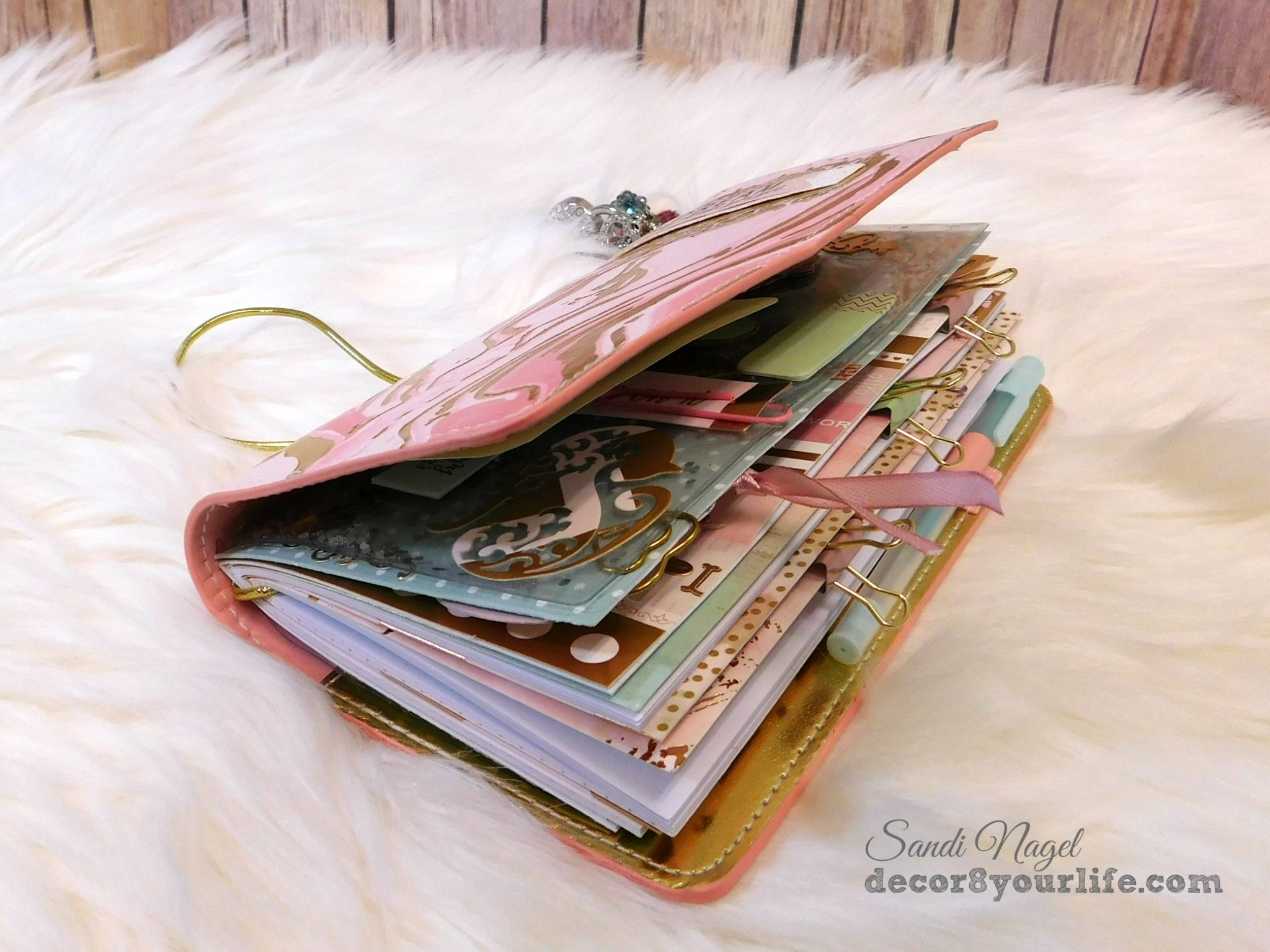 Pink glam travelers notebook setup and flip through by decor8yourlife arubaitofo Images