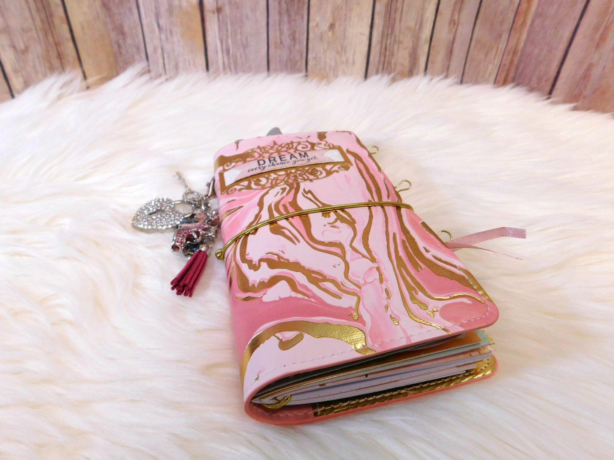 Pink Glam Traveler's Notebook Setup