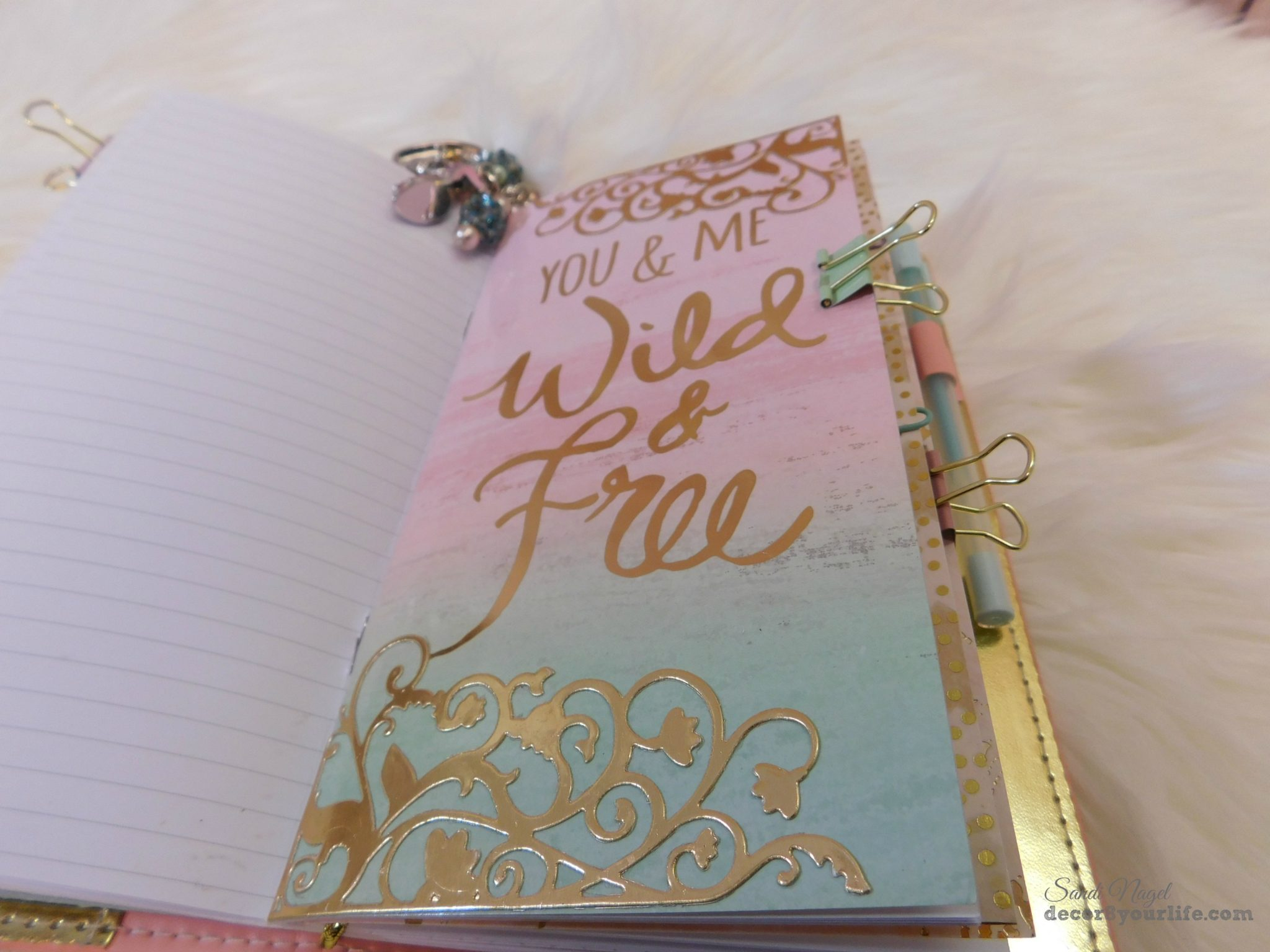 How to embellish your traveler's notebook