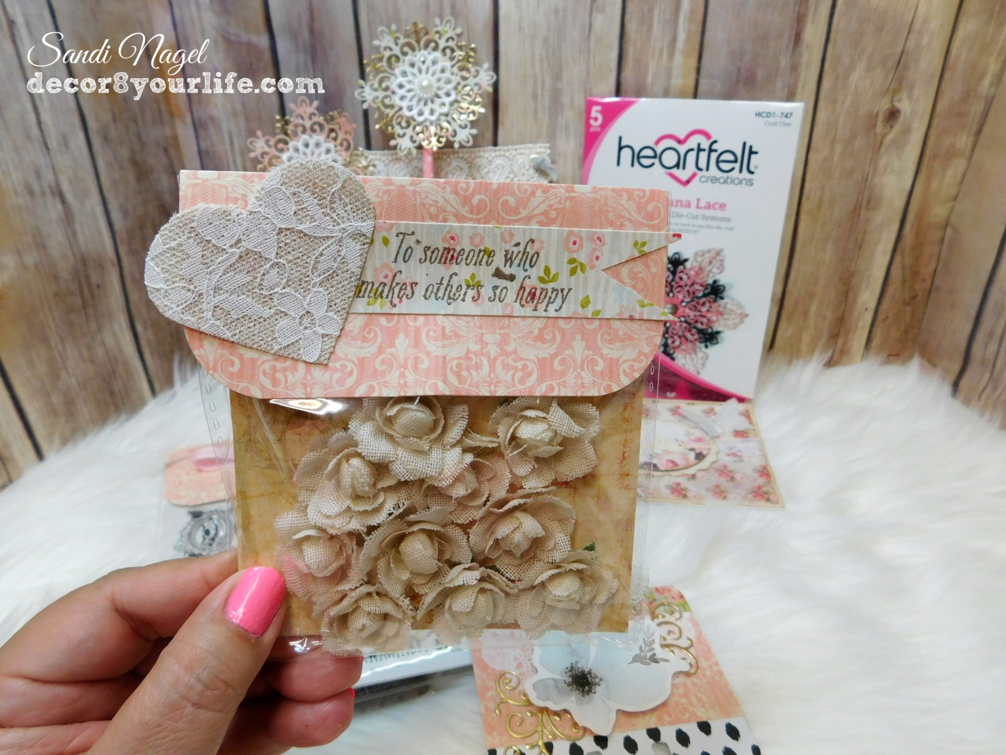 How to shabby chic packaging