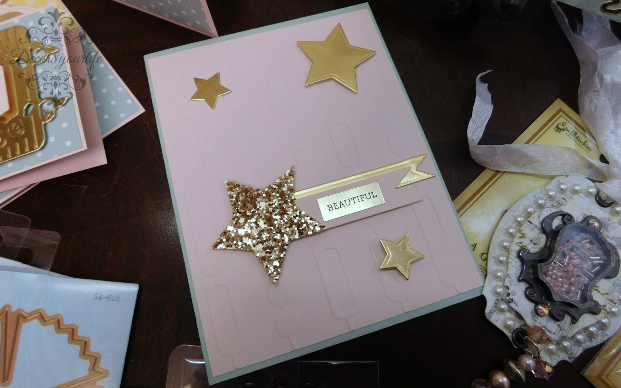 Spellbinders embossing folder handmade card