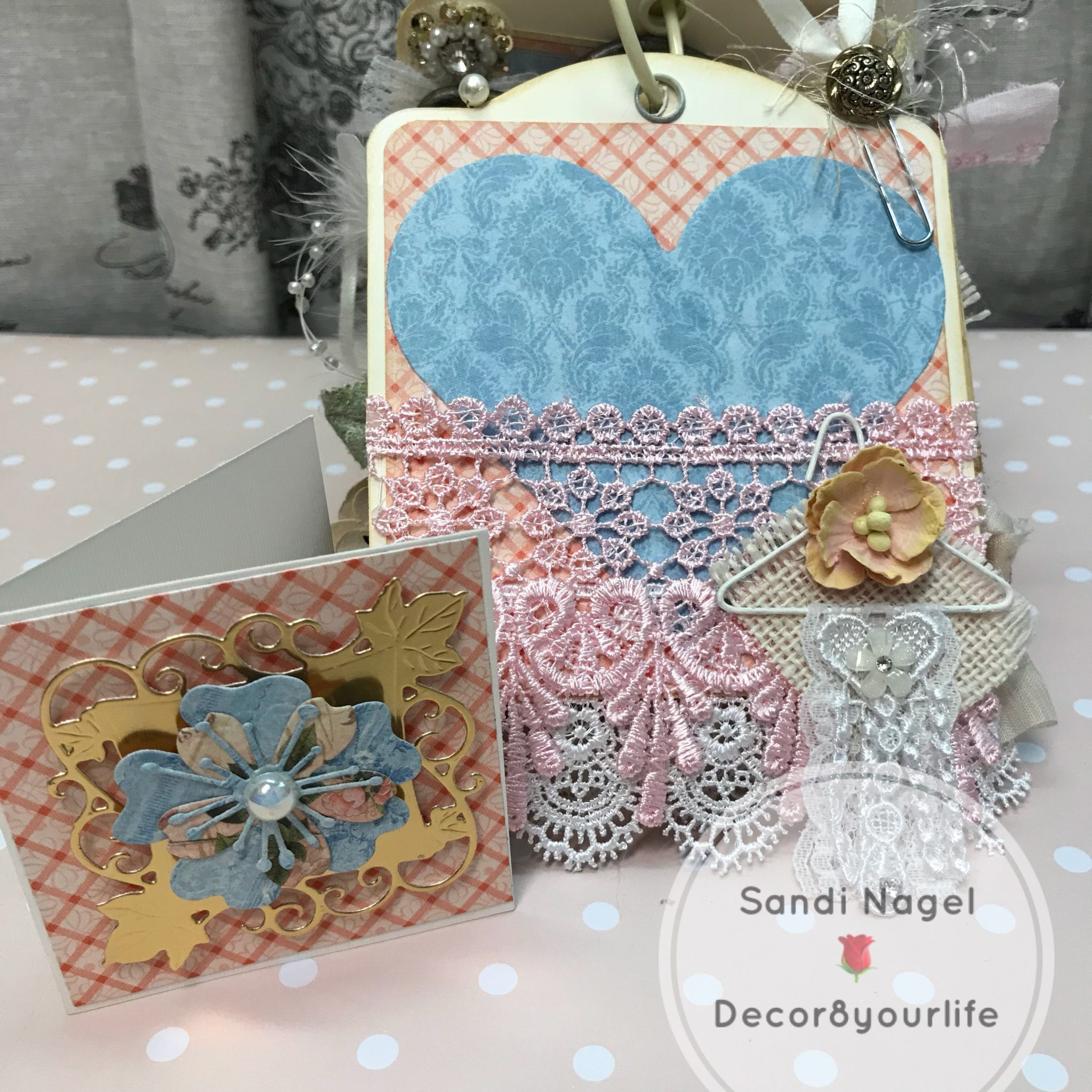 Shabby Chic Pocket Tag