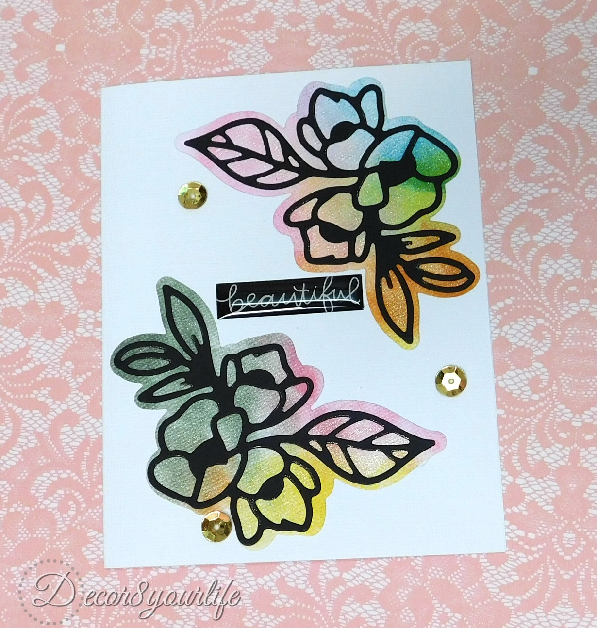 how to use distress inks on your dies