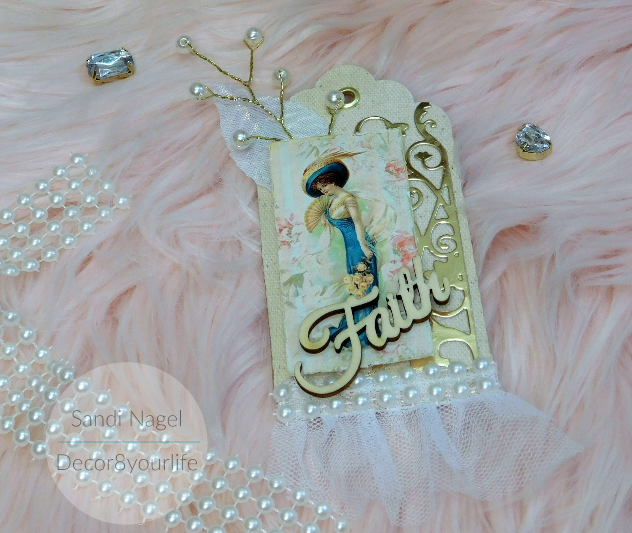 how to make a shabby chic tag