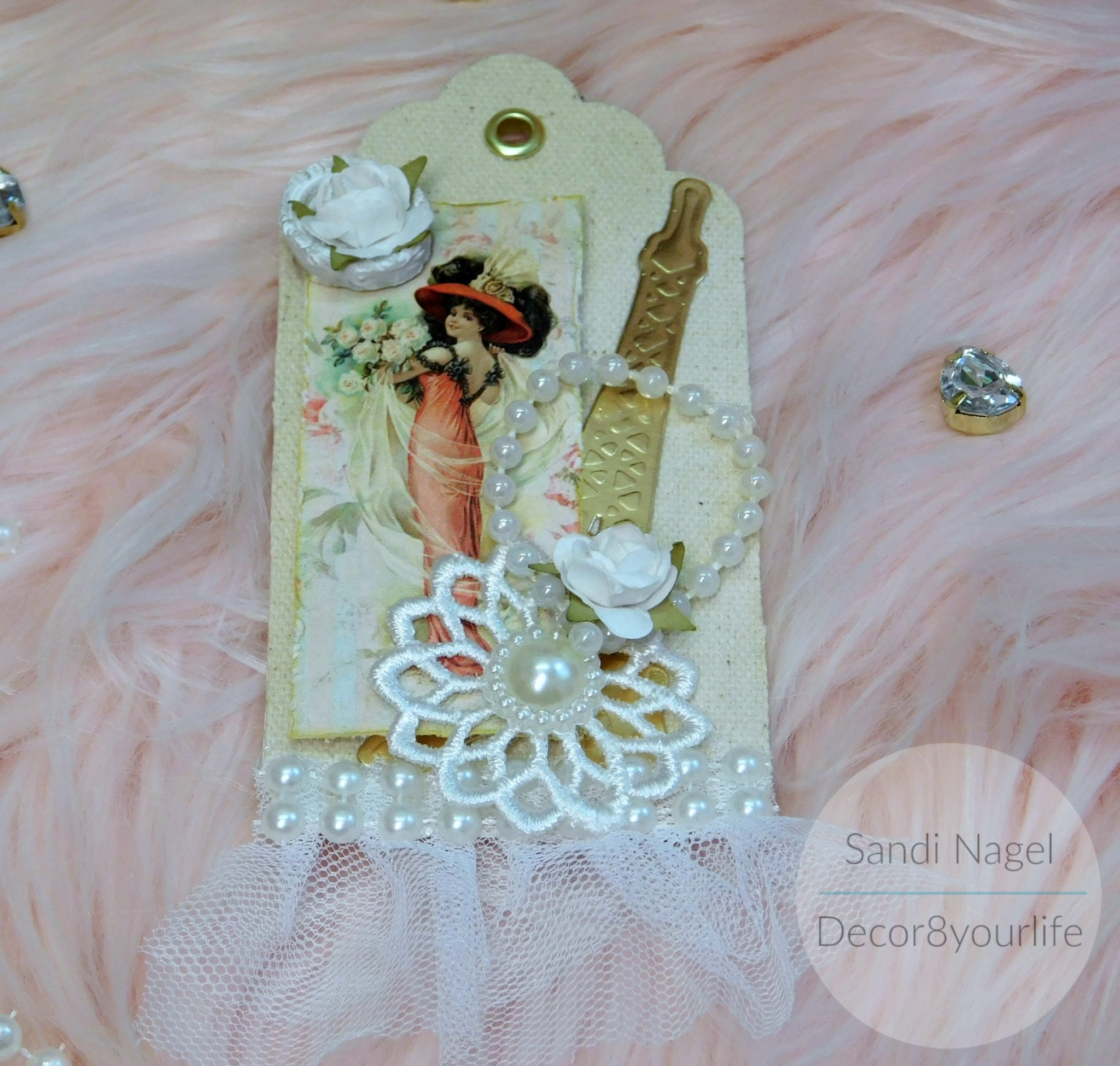 how to make shabby chic tags for scrapbooking