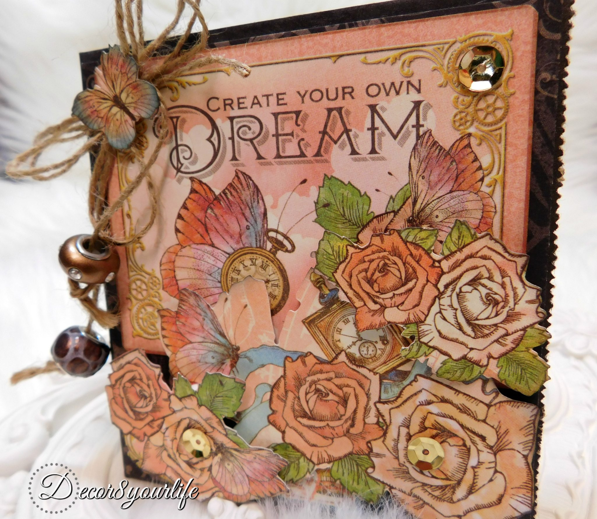 Graphic 45 Imagine Collection Paper Bag Card Tutorial