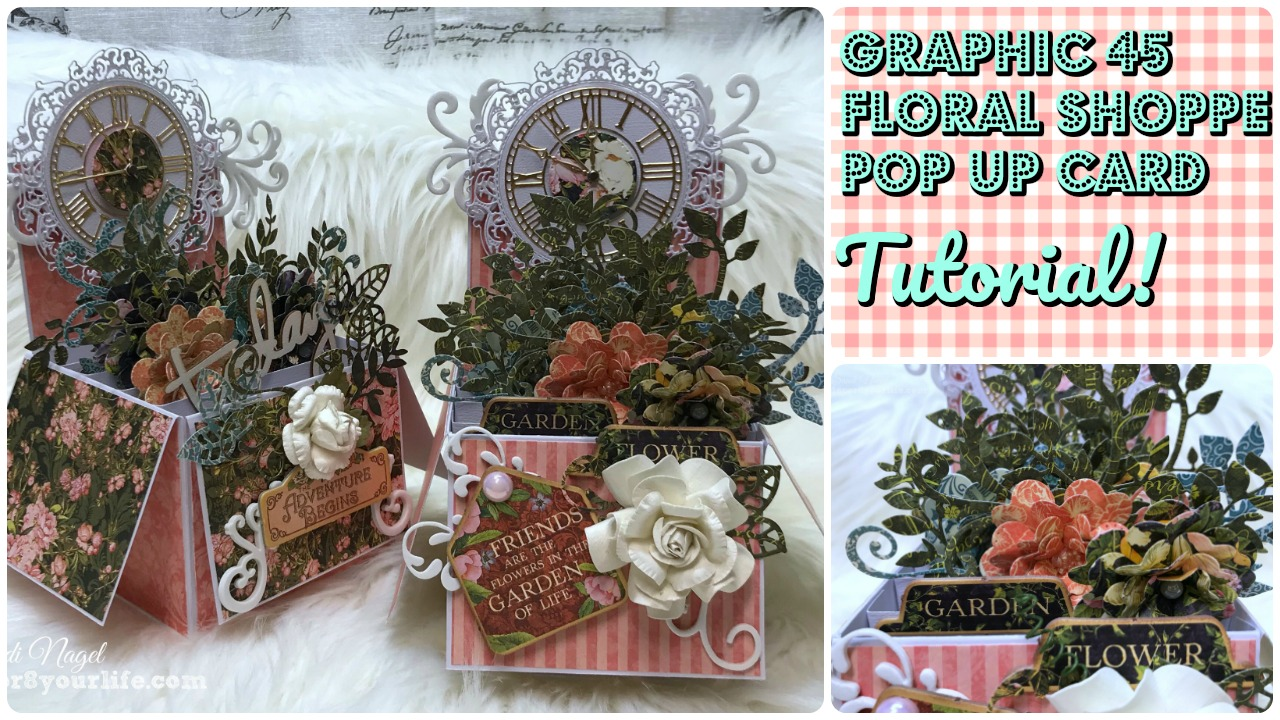 Graphic 45 Floral Shoppe Pop Up Cards