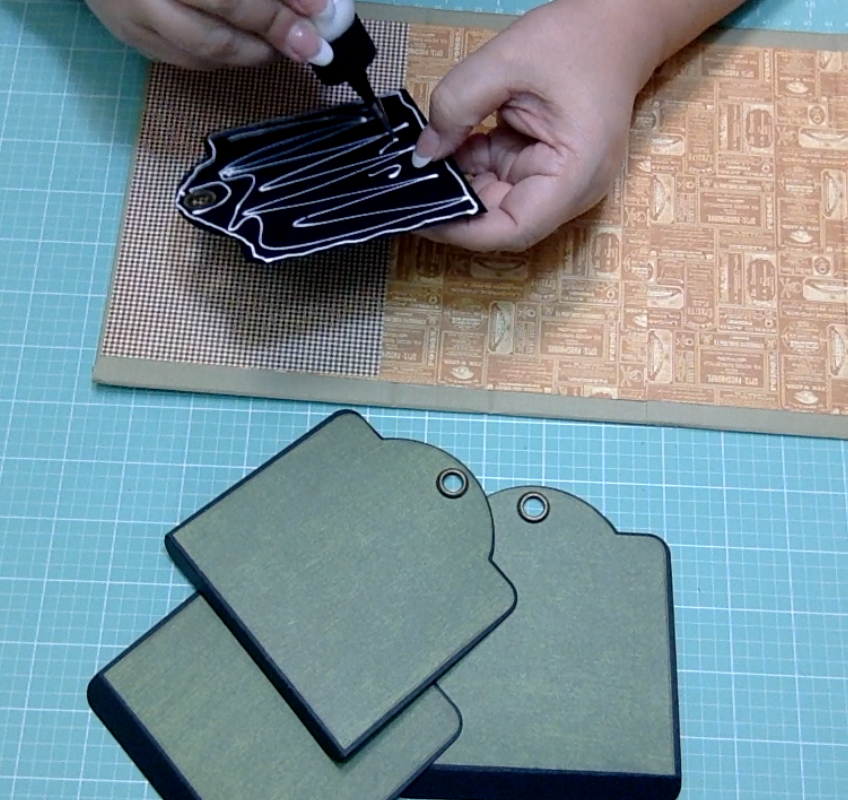 Graphic 45 Square Tags